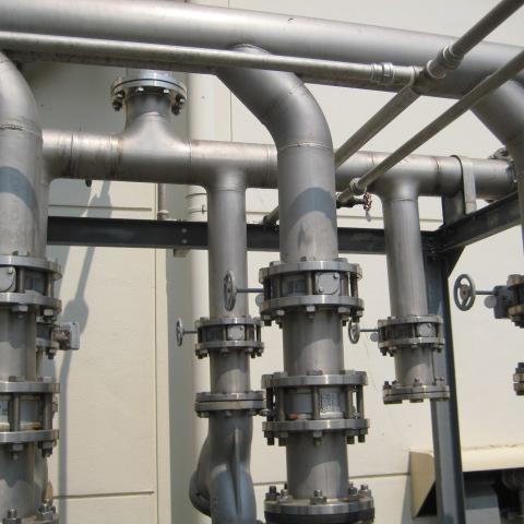 เปลี่ยนท่อ Cooling tower 14 นิ้ว