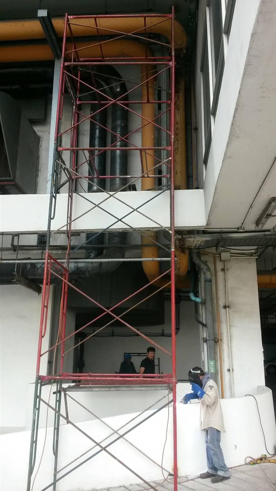 งานเปลี่ยนท่อ cooling tower 14 นิ้ว