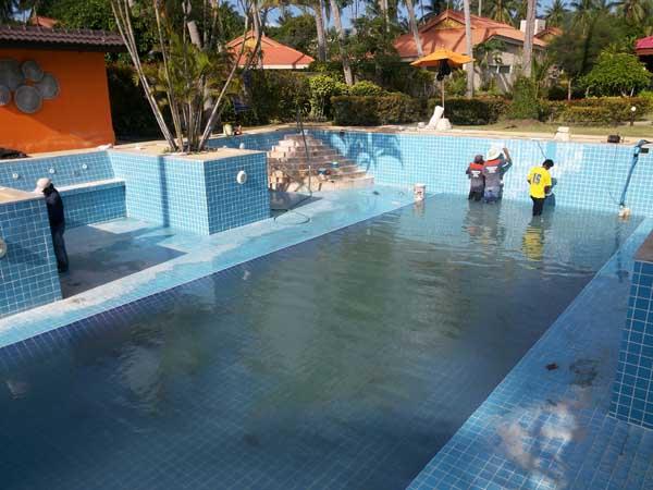 บริการซ่อมแซมและรับเหมาสระว่ายน้ำ พร้อมเดินระบบ