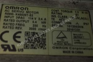 Omron AC SERVO MOTOR R88M-K40030T-S2